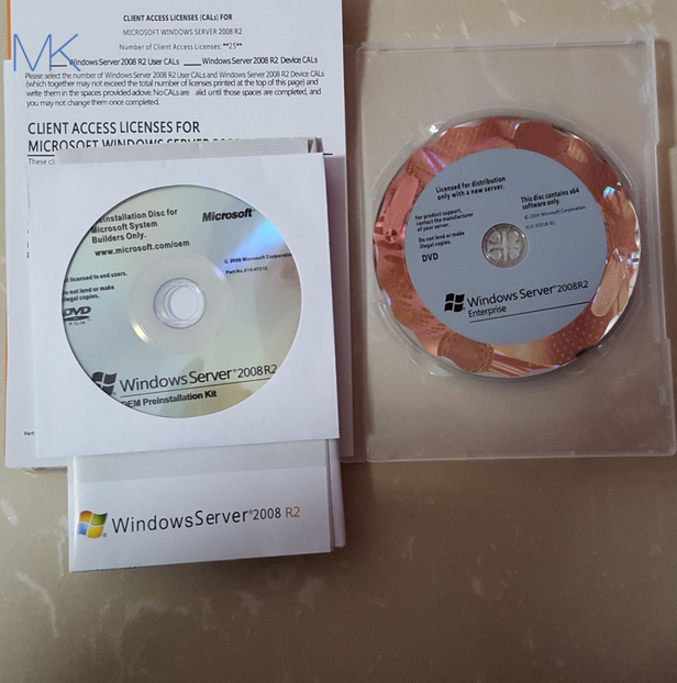 Activation Online Microsoft Windows Server 2008 Versions r2 Enterprise 25 CLT OEM English