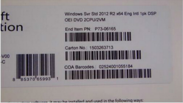 New Sealed Microsoft Server 2012 Standard R2 OEM 64 Bit 2 CPU License & DVD 512MB
