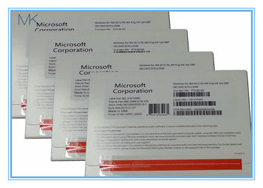 China Microsoft Windows Server Standard 2012 R2 OEM 64bit OEM 2 CPU 2 VM Easy To Use supplier