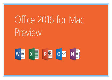 China Home and Business Microsoft Office Professional 2016 Product Key for Mac Genuine license installation supplier