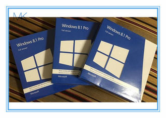 China Windows 8.1 Os Software  Pro Pack DVD *2 With Key Card 32 / 64bits supplier