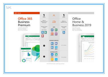 China Online Activation Microsoft Office 2019 Vision Home And Business Key Card English supplier