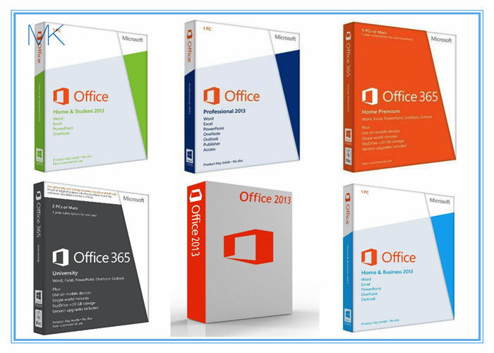 Microsoft office 2013 retail box with dvd 32bit 64bit no language limitation - Pack office home and business 2013 ...