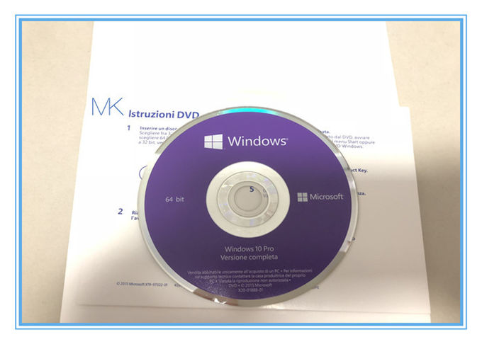 16 GB Windows 10 Pro Retail Box 64 Bit Security Label Windows 10 Retail Product Key